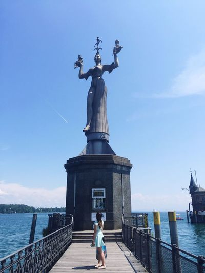 Statue Human Representation Female Likeness Sky Sculpture Travel Destinations Architecture Day Water Sea Built Structure Outdoors No People Stories Jenae Switzerland Germantown