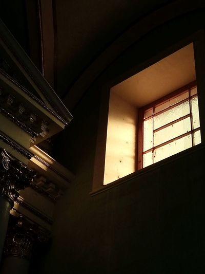 Indoors  Window Built Structure Architecture No People Illuminated Neon Day Old Buildings Old Architecture Old Church Church First Eyeem Photo
