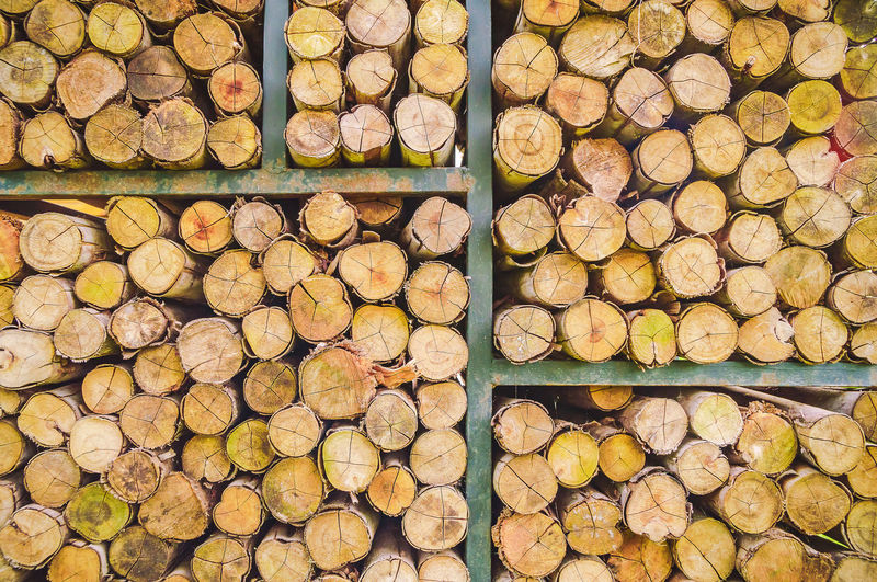 Pile of wood logs for winter, wooden background, stack of wood background.