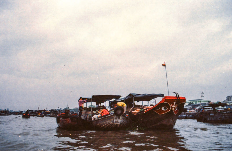 I've spent last December/January photographing Vietnam from North to South in film - while the final series is not going to be published for some time, I'm sharing on EyeEm some of my favourite extras that didn't make it to the final selection. Water Transportation Sky Fishing Boat Floating Market Water Market Vietnam ASIA River Film Photography
