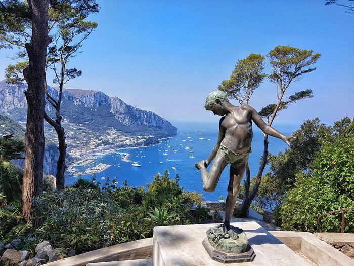 Villa Lysis Italian Island Scenics Panoramic View Capri, Italy Capri Island Marina Grande Capri Italianlandscape Italien Villa Lysis Villa Fersen