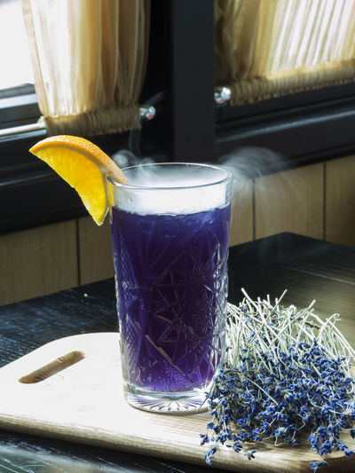 Lavender lemonade with lavender blossom. Healthy fresh nonalcoholic summer drink Blossom Close-up Day Drink Flower Food And Drink Fresh Freshness Healthy Healthy Eating Herbal Tea Indoors  Lavender Lemonade No People Nonalcoholic Refreshment Summer Table