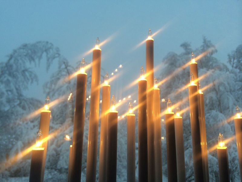 Christmas morning Advent Candle Stick Candles Christmas December Candlelight Electric Candles Snow
