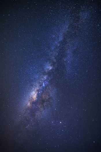 clearly milky way galaxy at phitsanulok in thailand. Astronomy Beauty In Nature Blue Constellation Galaxy Milky Way Nature Night No People Outdoors Scenics Sky Space Star - Space