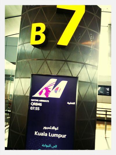 Flying back to Kuala Lumpur on Qatar Airways from Doha Hamad International Airport (DOH) Qatar