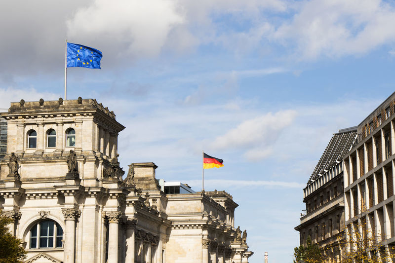 The reichstag bears silent witness to the turbulent history of berlin