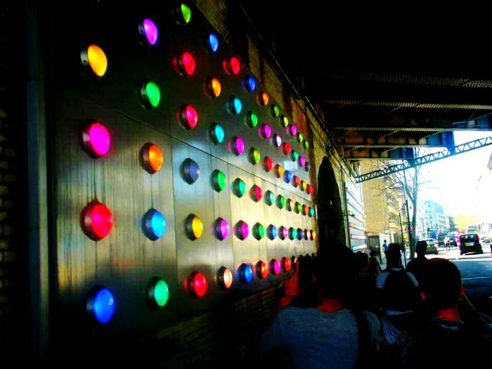 Aaaah london Multi Colored Illuminated Built Structure The Way Forward Architecture Outdoors London Lights Class Trip