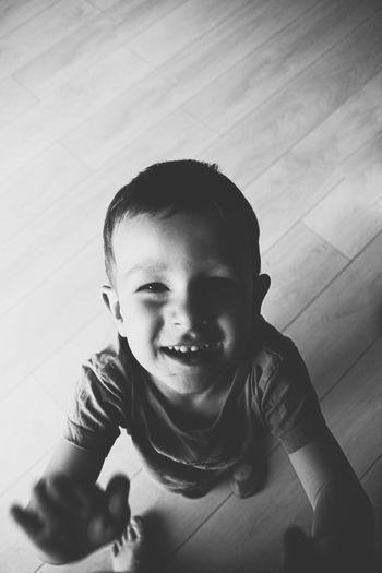 Portrait of a smiling boy at home