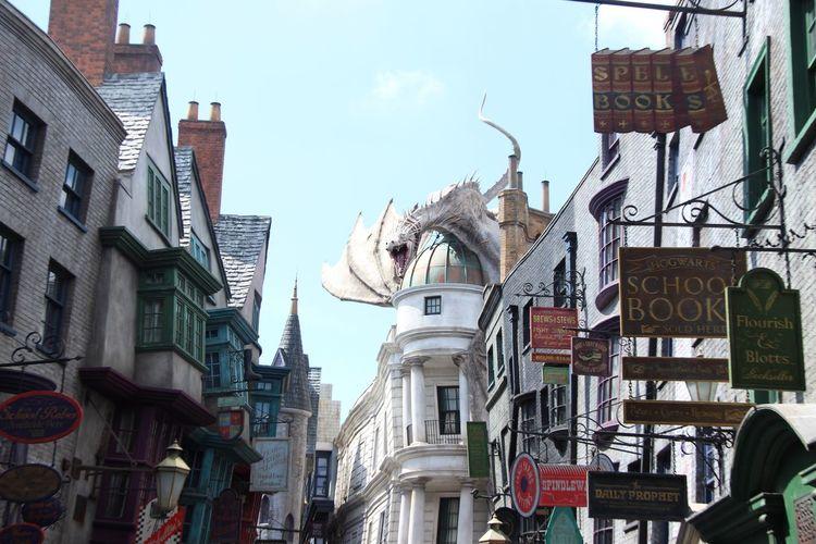 Orlando Florida Universal Studios  Harry Potter Thewizardingworldofharrypotter Gringotts Gringotts Dragon Gringottsbank Diagon Alley