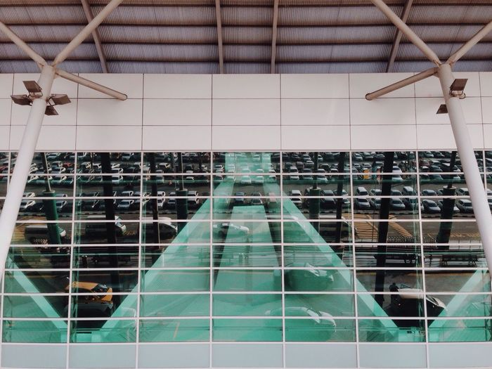 Airport Departure Catching A Flight Starting A Trip Showcase March IPhoneography Q Reflection Glass Windows Thats Me  Cars Eye4photography  Geometry Symmetry Architecture Stenka And Friends The Architect - 2016 EyeEm Awards Fine Art Photography