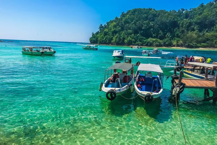 Sapi Island Blueblueblue Streamzoofamily Thisismyworld Travel Photography Travel Destinations Malaysia Water Nautical Vessel Transportation Mode Of Transportation Sky Sea Nature Beauty In Nature Travel
