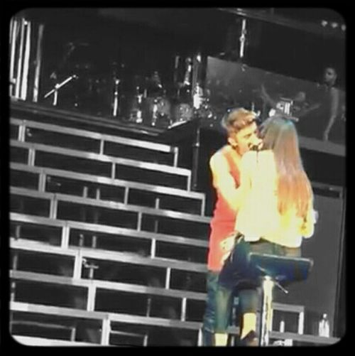 JB Kissing The Lips Of OLLG Yesterday in Adelaide
