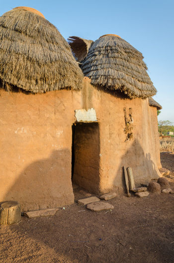Mud and clay fortress of tata somba tribe in rural benin, africa