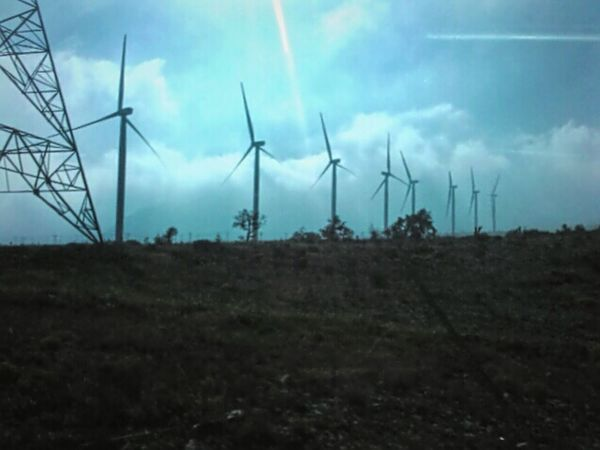 Viento Electrico Electricity  Fuel And Power Generation Landscape Nature Renewable Energy Wind Turbine No People Outdoors Wind Power Sky Day Alternative Energy Mexico Leo Sáenz In A Row Road