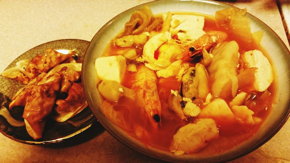 Pot Stickers & Spicy Tofu Soup Dinnerisserved