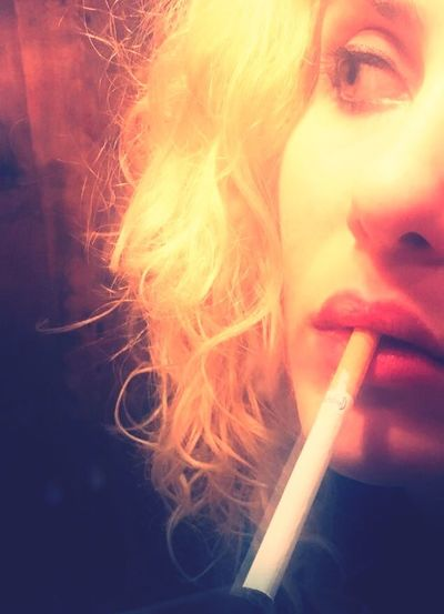 Girl Smoking Girl Faceart Face