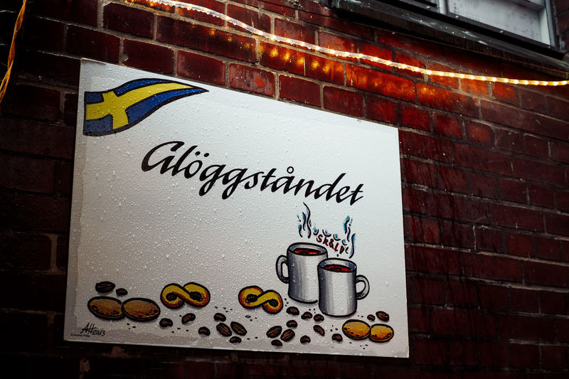 Glöggståndet Swedish The Week On EyeEm Close-up Communication Day Glögg Message No People Outdoors Text