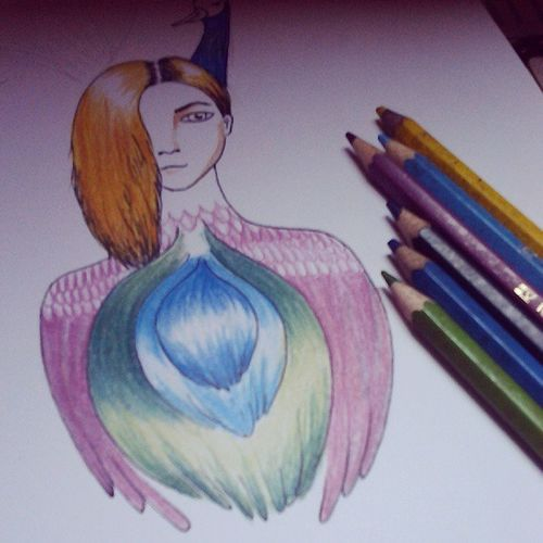 Unfinished Draw Drawing Pencil_colour