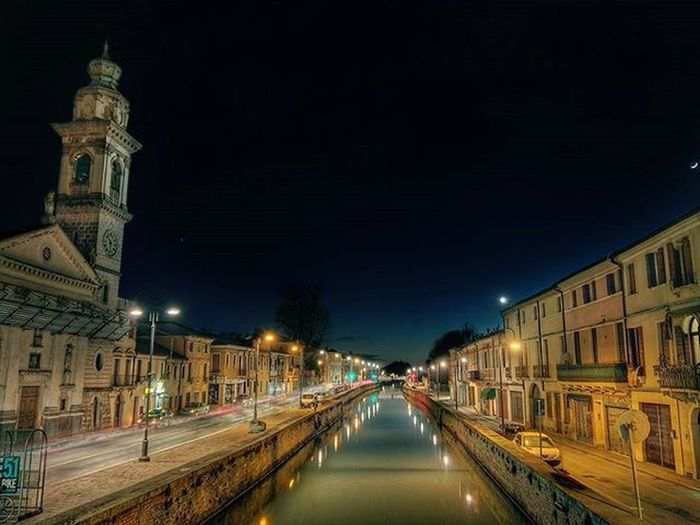 Battaglia Terme - Canale Bisatto🌃 Alberto Dal Broi Fotografia © Urban Street Canal Night Light Trails Landscape HDR Ic_hdr Ic_landscapes Hdr_captures HDR Photography Nikon
