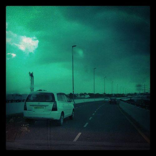 A cloudy evening in Delhi Monsoon