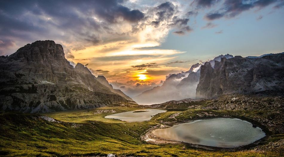 Amazing dolomites sunrise Outdoors Italia Travel Lake Passion Naturelovers Italy Dolomites, Italy Nikon Travel Destinations Sky Sunset Cloud - Sky Beauty In Nature Scenics - Nature Nature Tranquil Scene Water No People Landscape Mountain Sun Sunlight Land Tranquility Outdoors Idyllic Plant Environment First Eyeem Photo Humanity Meets Technology My Best Photo