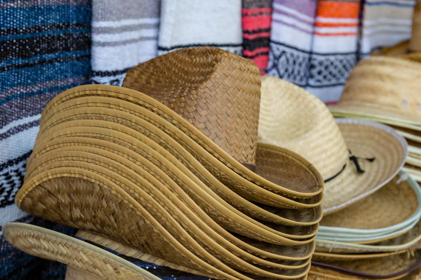 edfc86ba A pile of cowboy hats for sale Cowboy Hat Stetson Business Choice Close-up  Clothing