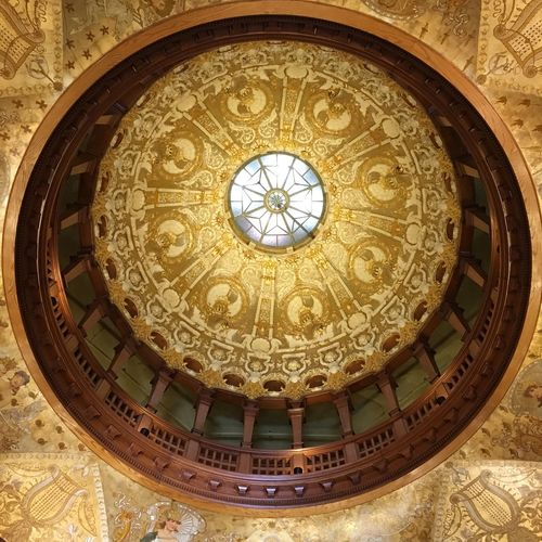 Golden Age Dome Ceiling Flagler College Old Hotel Gold Leaf Gilded Age St Augustine