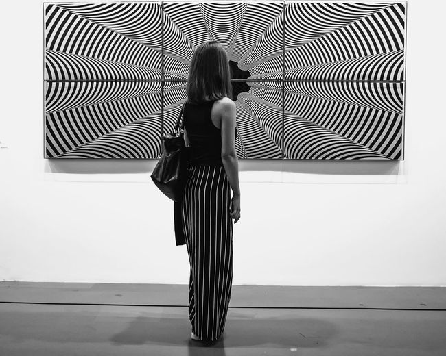 One Woman Only Lines One Person Black And White Collection  Black&white Black & White Blackandwhite Istanbulmodern