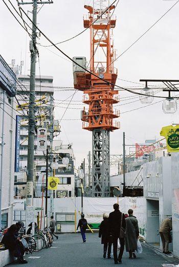 Contax G2 Kodak Portra 35mm Film Film Tokyo Everyday Lives Streetphotography Under Construction Urbanscape