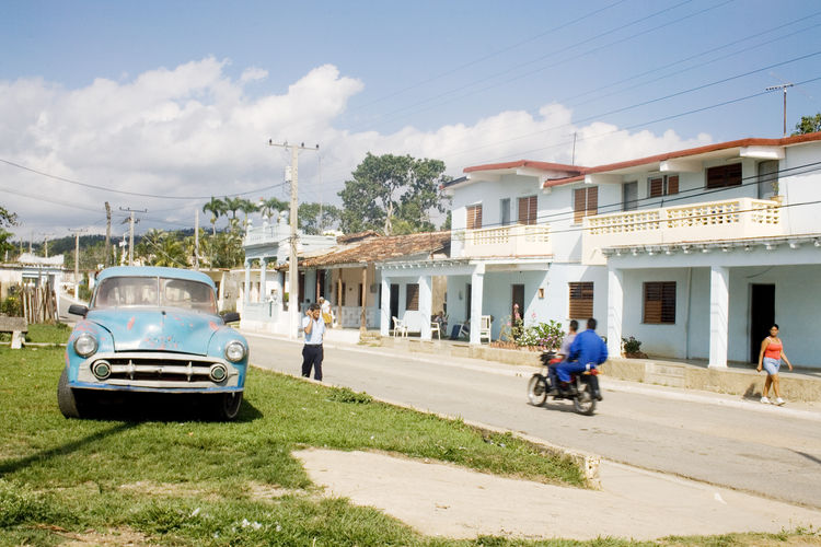 Cuba Cuba Collection Architecture Building Exterior Built Structure Car Chevrolet City Day Group Of People Incidental People Land Vehicle Men Mode Of Transportation Motor Vehicle Nature Old Car Outdoors People Real People Road Sky Street Sunlight Transportation