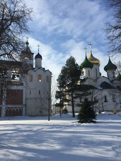 Suzdal Russian Cities Sunny Day Russian Winter Russian Church