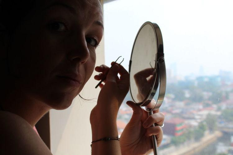 Beauty by woman Beauty Demands Beauty Redefined Confidence  Mirror Person Real People Woman Portrait Women