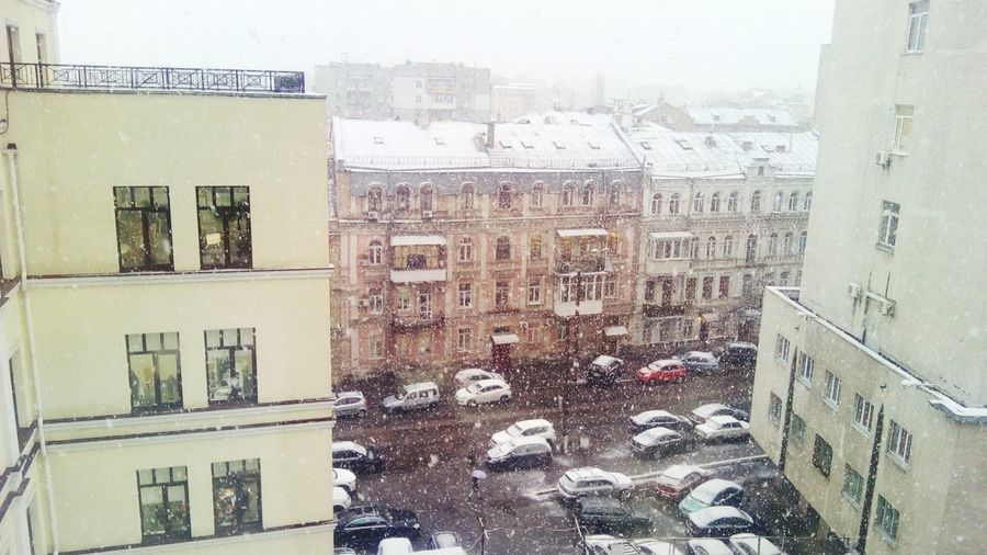 Snowing Snow In The City