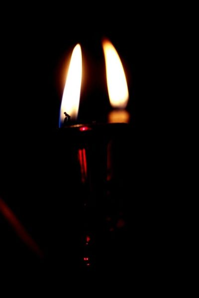 Flame Burning Heat - Temperature Candle Dark No People Illuminated