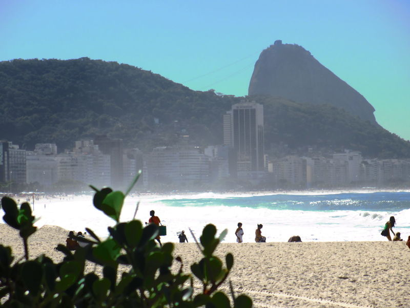 Architecture Beach Brasil Brazil Building Exterior Built Structure Clear Sky Famous Place Landscapes With WhiteWall Large Group Of People Leisure Activity Lifestyles Mountain Nature Person Rio De Janeiro Sea Tourism Tourist Travel Travel Destinations Vacations Water