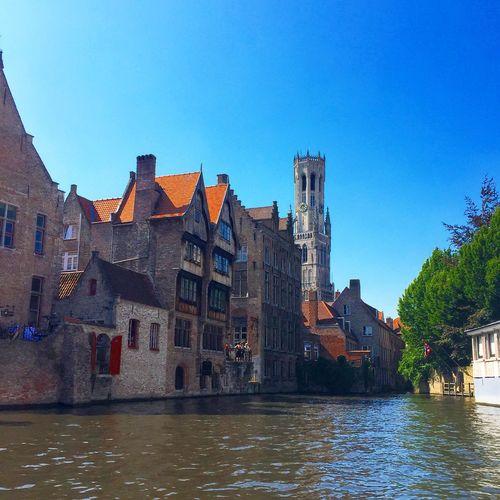 Bruges, Belgium Brugge Bruges Belgium Belltower Boattour Photography