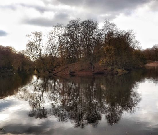 A beautiful autumn day at Heaton Park Manchester UK Reflection Water Nature Beauty In Nature No People Scenics Landscape Creative Light And Shadow Color Photography Malephotographerofthemonth Nature And Wildlife By Tony Bayliss Manchester Reflection Lake Heaton Park Autumn