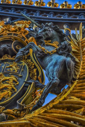 At the gates Gold Baroque Style Palace Gate Unicorn No People Day Outdoors Statue Close-up