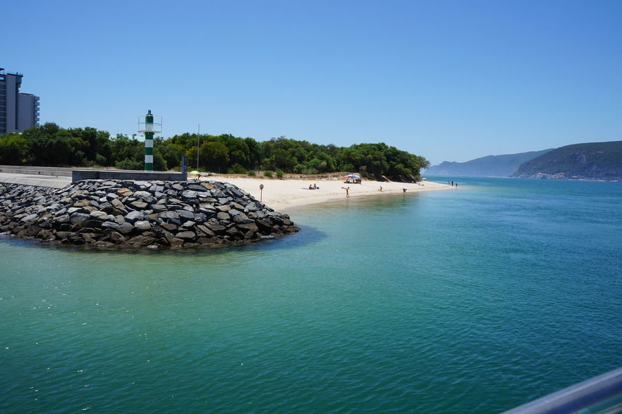 Portugal Sado River Portugal Beach Blue Clear Sky Clear Water Day Mountain Nature Rock - Object Sado Sea Shore Sky Troia Troia Portugal Water