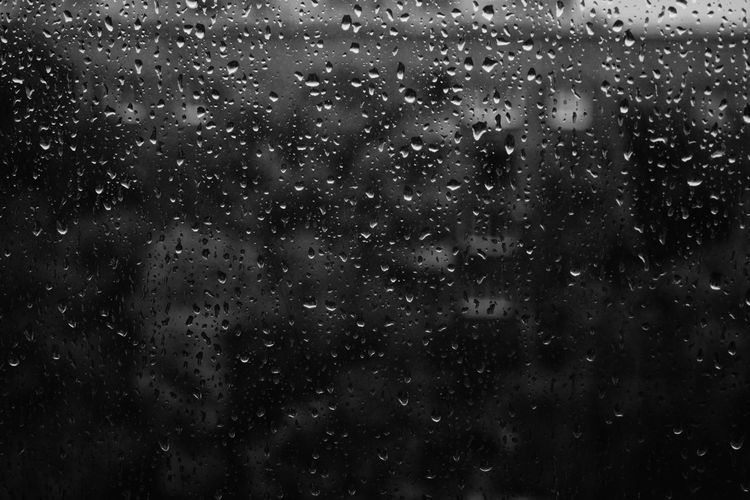 Rain Drops Rain Drops On The Window B/w Collection B/W Photography Darkness And Light Water Twillight No People Cloud Day Silhouette Cold Temperature Glass Of Water Glass Houses And Windows In House Freshness Dark Grief Melancholy Day