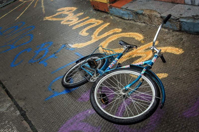 Bike on asphalt