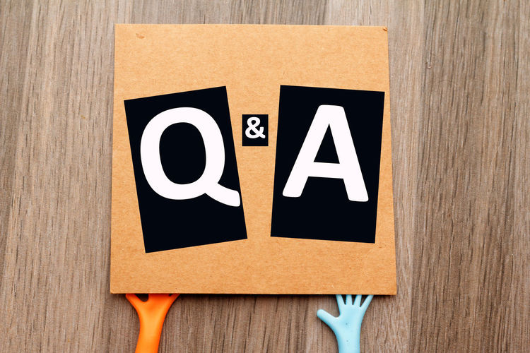 Question and answer concept Question Answer Q&A Conceptual Concept Communication Close-up Information Sign Information Capital Letter