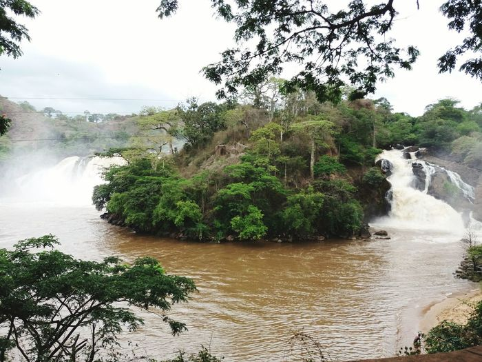 Tree Water Nature Lake Growth Landscape Scenics No People Outdoors Beauty In Nature Day Sky Duascascatas Twinwaterfall Angola Gloria2017 Gabela Beauty In Nature Nature Bonding