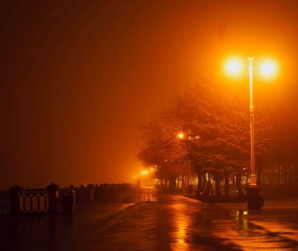 In the fog.