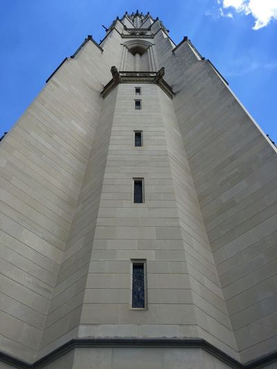 Low Angle View Architecture Building Exterior Built Structure No People Sky Religion Clear Sky Place Of Worship Spirituality Outdoors Day Bell Tower 3XSPUnity Cathedral