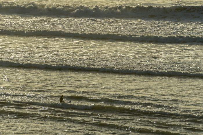 Surfer Raglan Nz NZ Sunlight Outdoors Beach Water Scenics