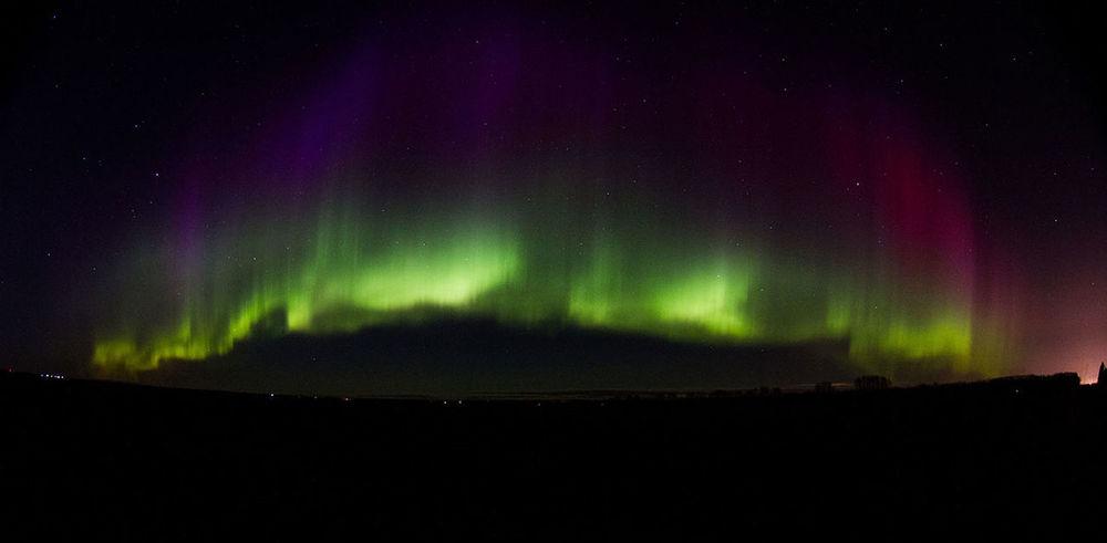 Northern Lights Aurora Borealis Aurora Manitoba Canada Night ELIE