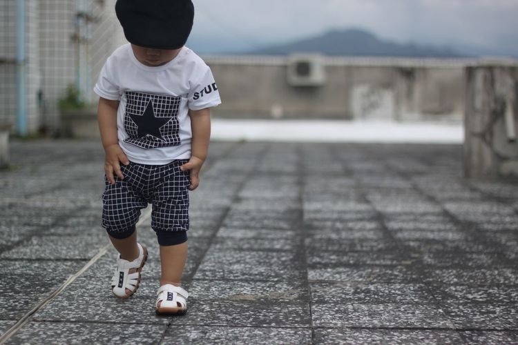next step EyeEmNewHere Roof Rooftop Boys Casual Clothing Childhood One Person Outdoors Playing