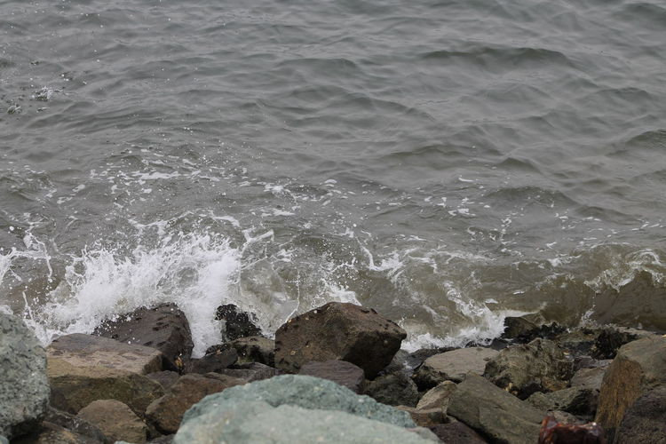 Summer Time Family Time Shelter Island Beautiful Sea Beauty In Nature Close-up Motion Power In Nature Relaxing View Of Sea Sea Shelter Island Harbor Wave Waves Against Rocks Live For The Story