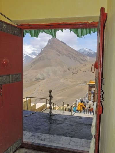From the door of Kye Monastery, Spiti, Himachal Pradesh, India. Mountain Landscape Outdoors The Great Outdoors - 2017 EyeEm Awards Himalayas India Tourism Increadibleindia Incredible India Himachaldairies Himachalpradresh